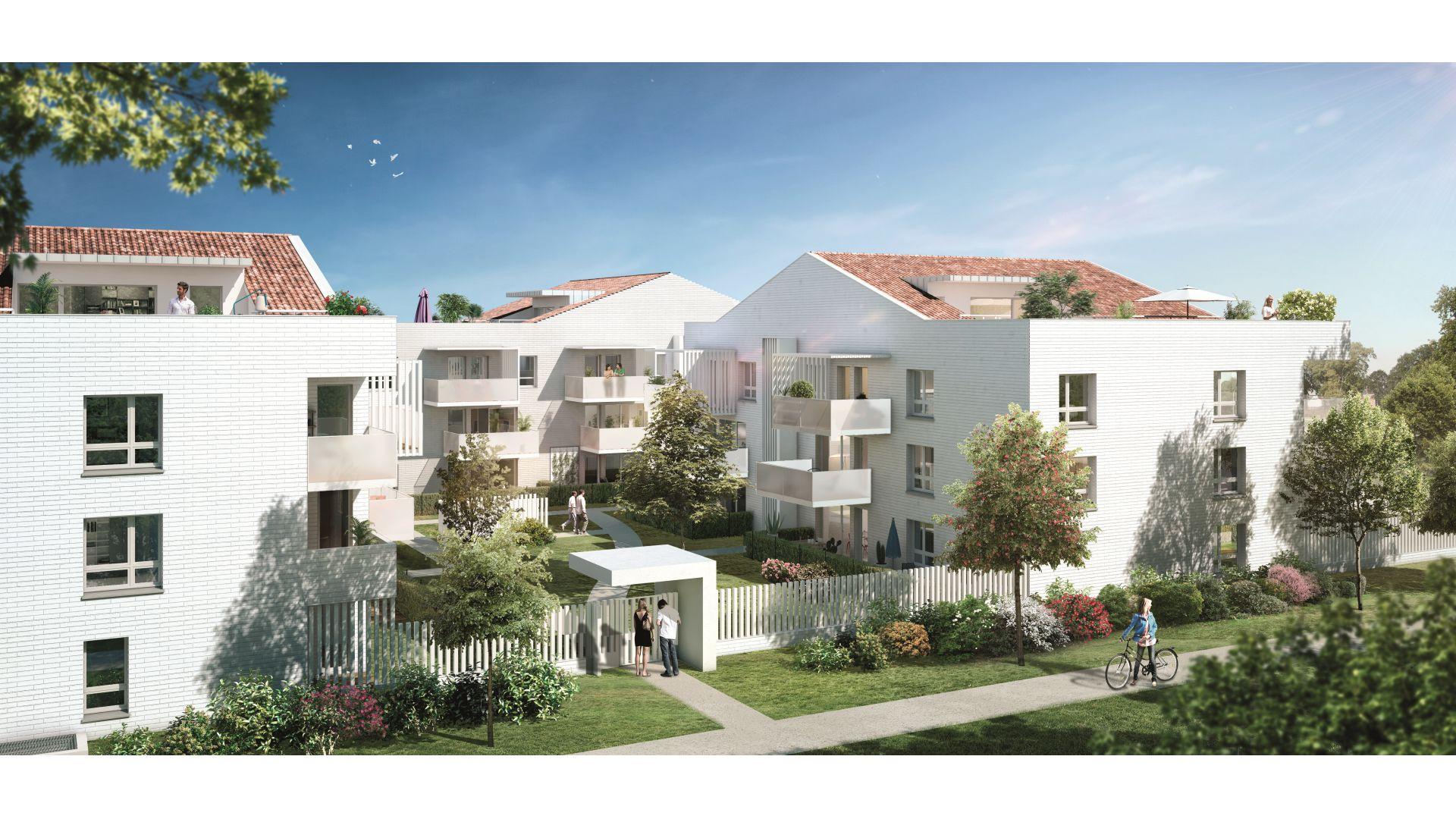 GreenCity immobilier - 31500 Toulouse Roseraie - Parc Romane - rue Louis Plana - appartements neufs du T1 au T4