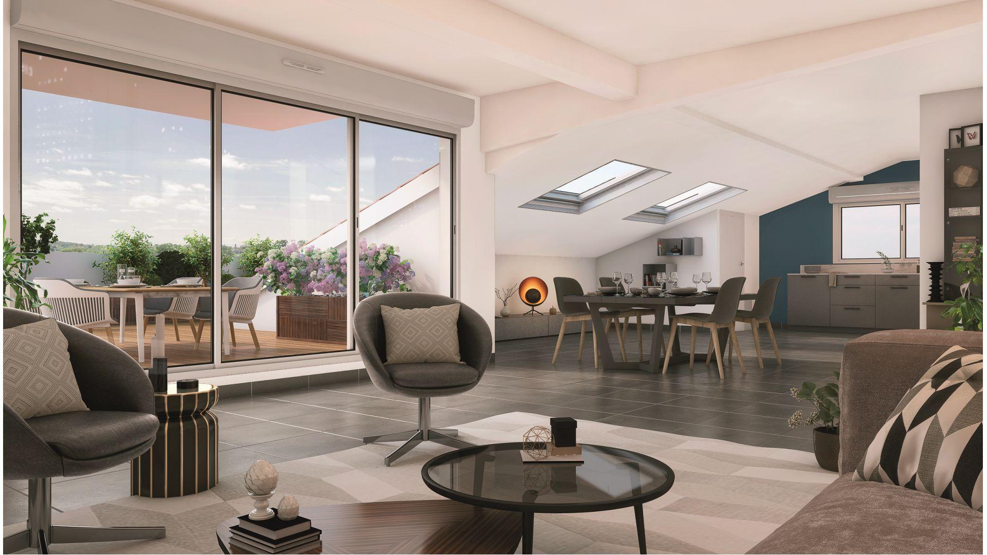 GreenCity immobilier - 31500 Toulouse Roseraie - Parc Romane - rue Louis Plana - appartements neufs du T1 au T4 - vue intérieure