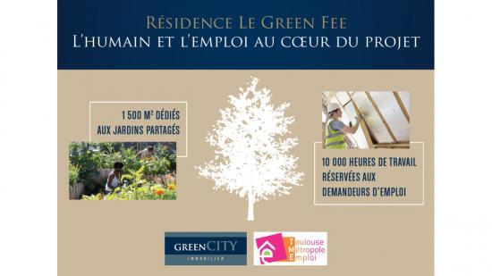 Plantation du 1er arbre sur notre résidence le Green Fee