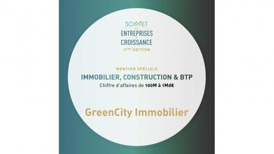 GreenCity Immobilier primée au Sommet des Entreprises de Croissance