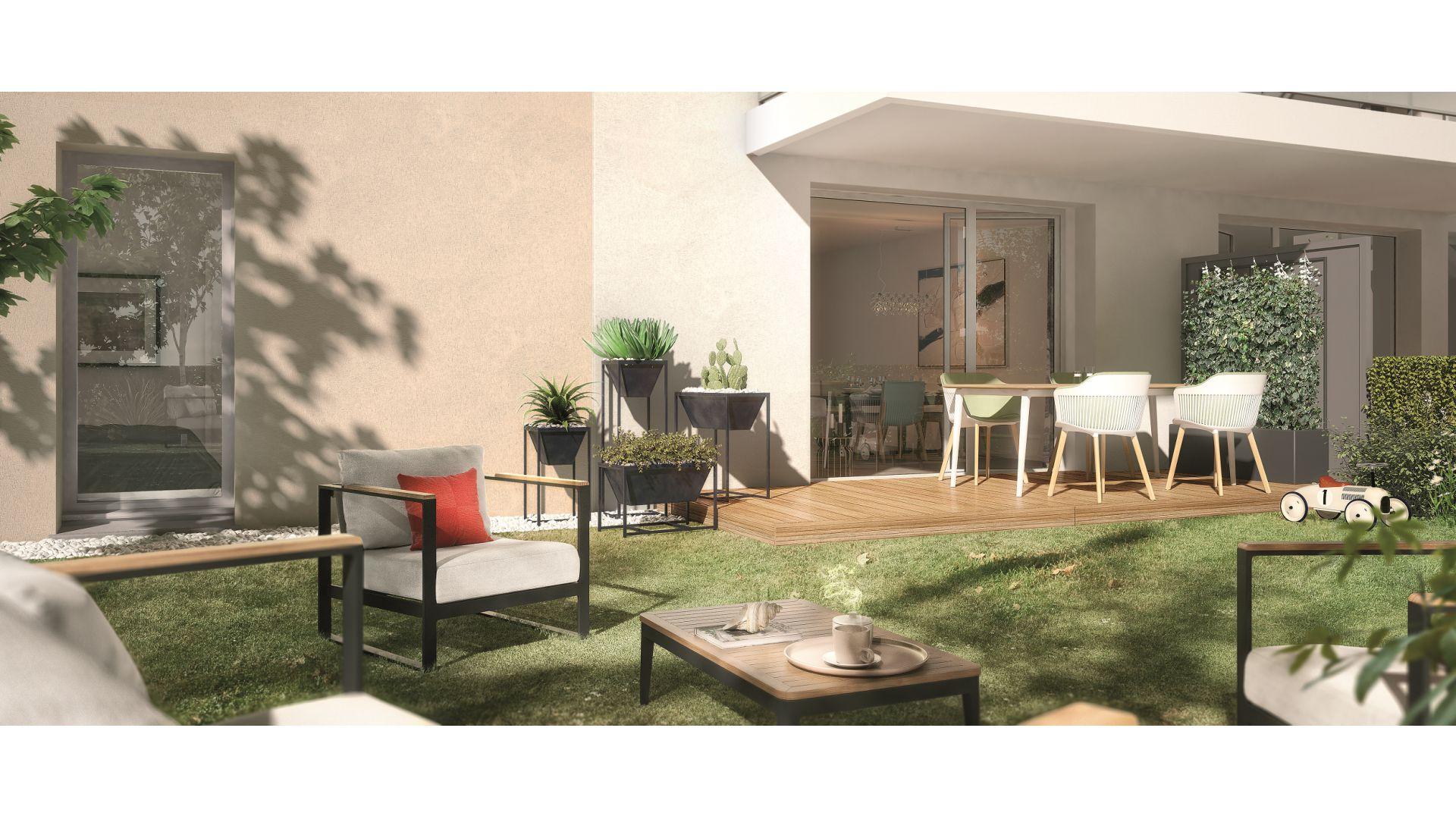 GreenCity immobilier - Fenouillet 31150 - Carré des Muses - appartement du T1 au T3 - vue terrasse