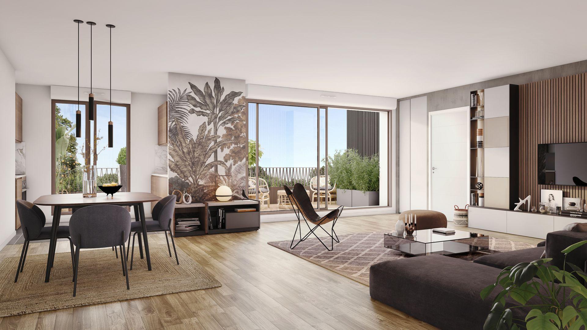 Greencity Immobilier - Résidence Carré Flore - 31700 Cornebarrieu - achat immobilier neuf - appartements et villas  du T2 au T5 - intérieur T4