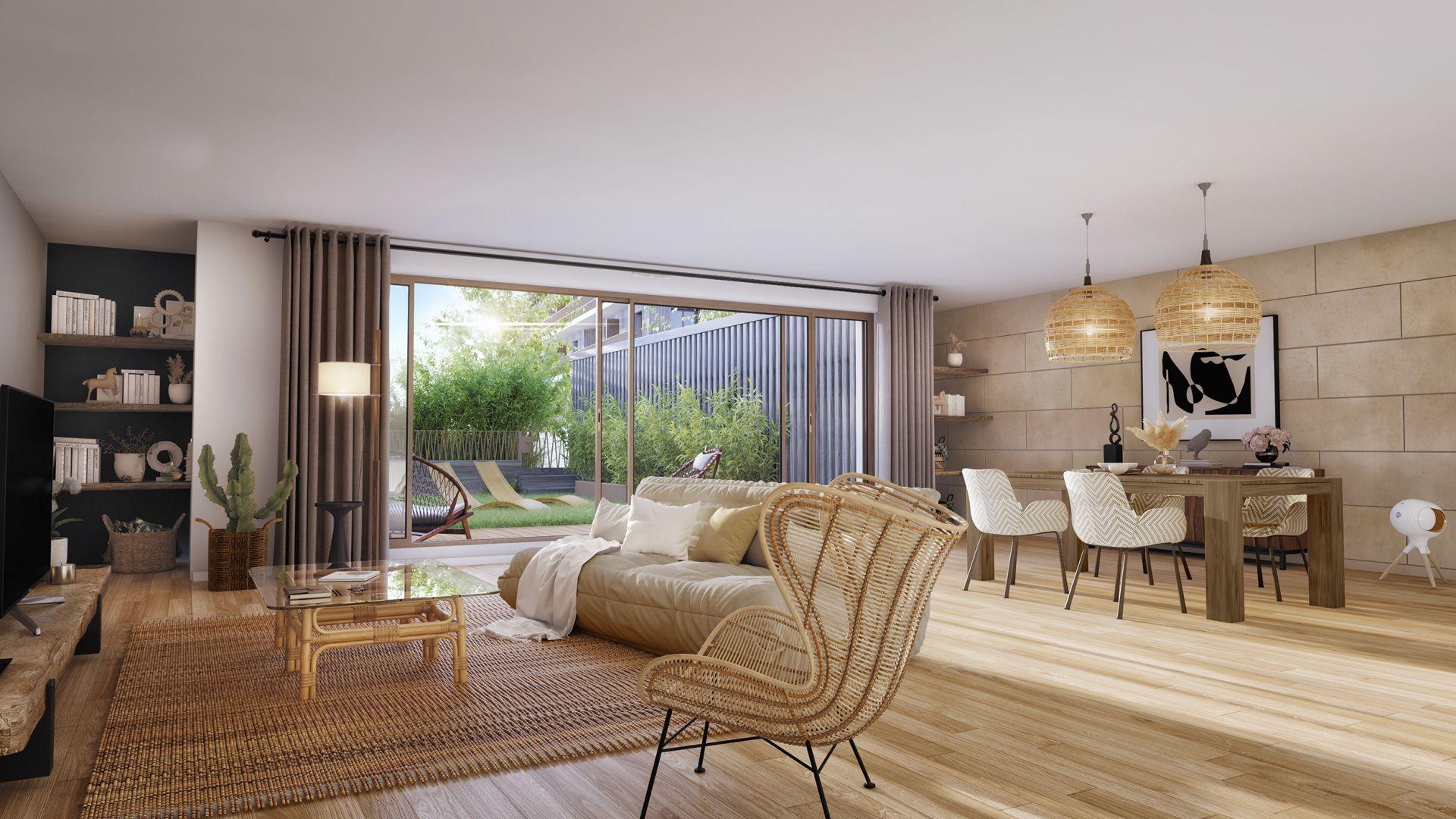 Greencity Immobilier - Résidence Carré Flore - 31700 Cornebarrieu - achat immobilier neuf - appartements et villas  du T2 au T5 - intérieur villa