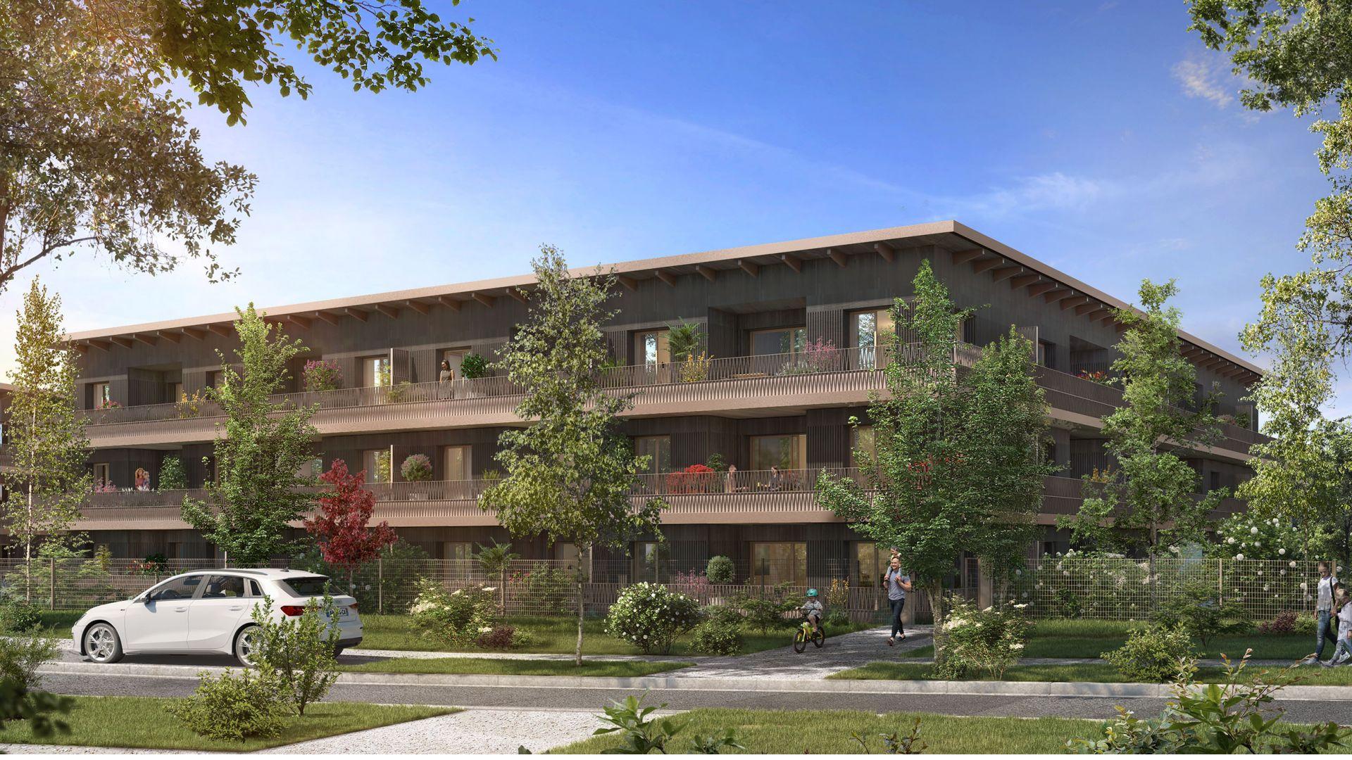 Greencity Immobilier - Résidence Carré Flore - 31700 Cornebarrieu - achat immobilier neuf - appartements et villas  du T2 au T5