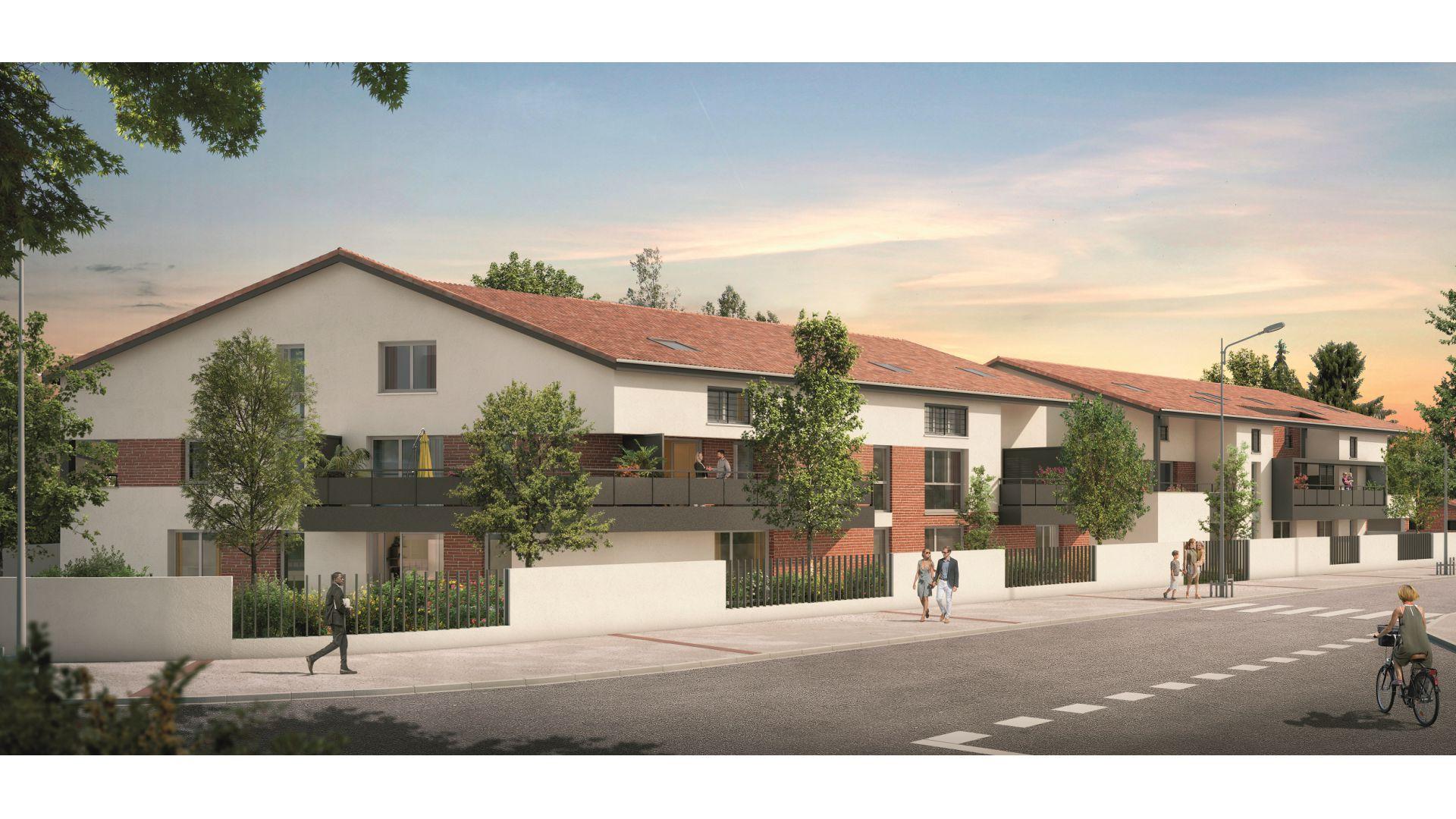 GreenCity immobilier - Clos Cassandre - 31700 Blagnac - appartements neufs du T1Bis au T5Duplex