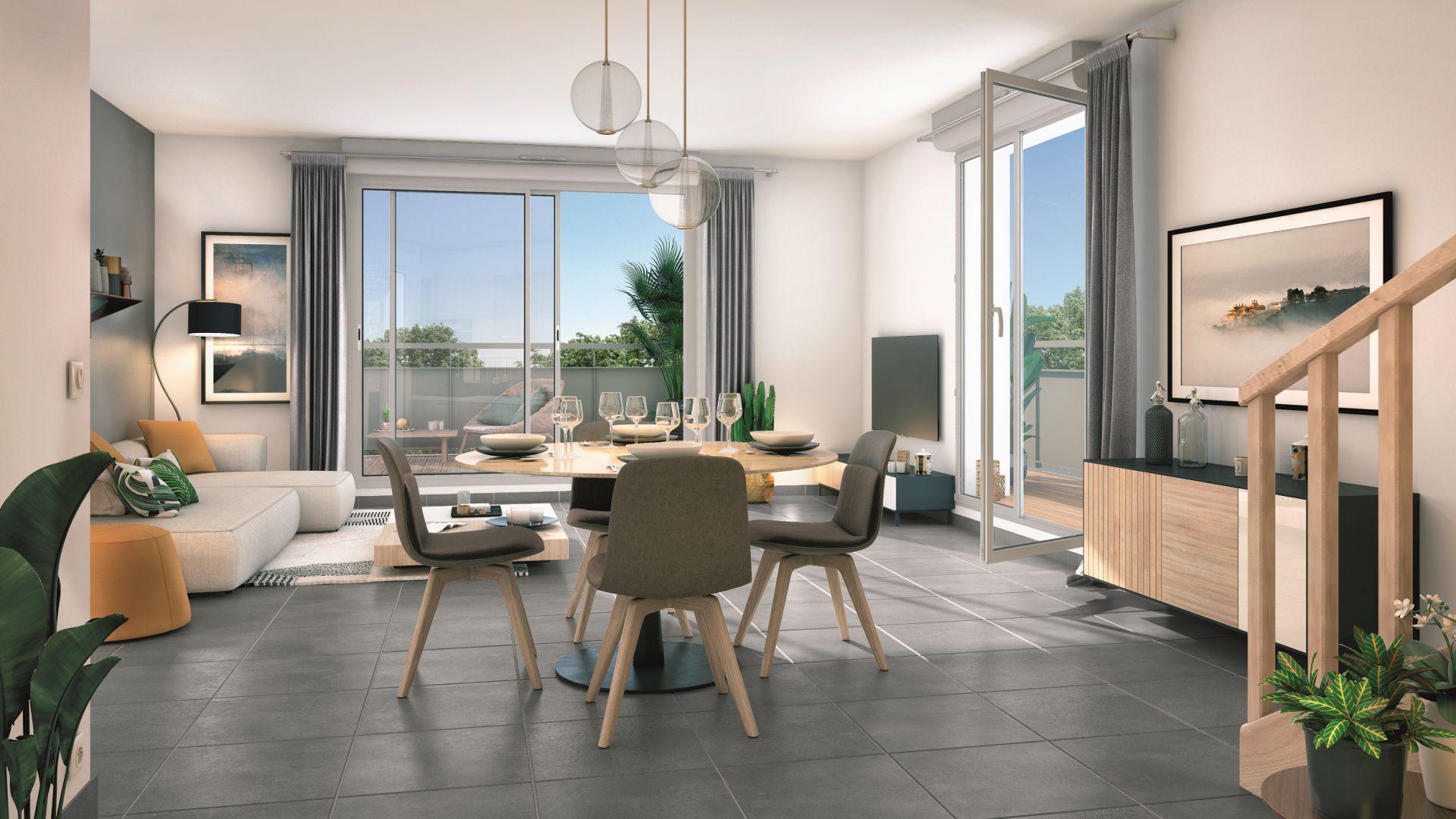 GreenCity immobilier - Clos Cassandre - 31700 Blagnac - appartements neufs du T1Bis au T5Duplex - intérieur