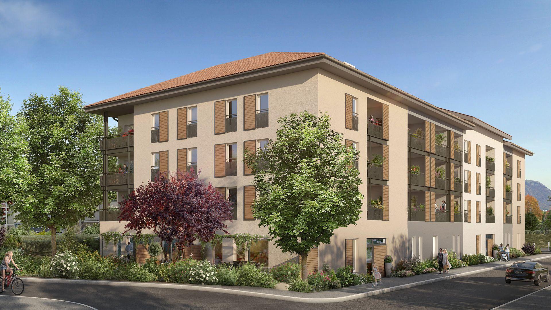 Greencity Immobilier - Clos Charvin - achat appartement neuf du T1 au T3 - Bonneville 74130  - vue pignon