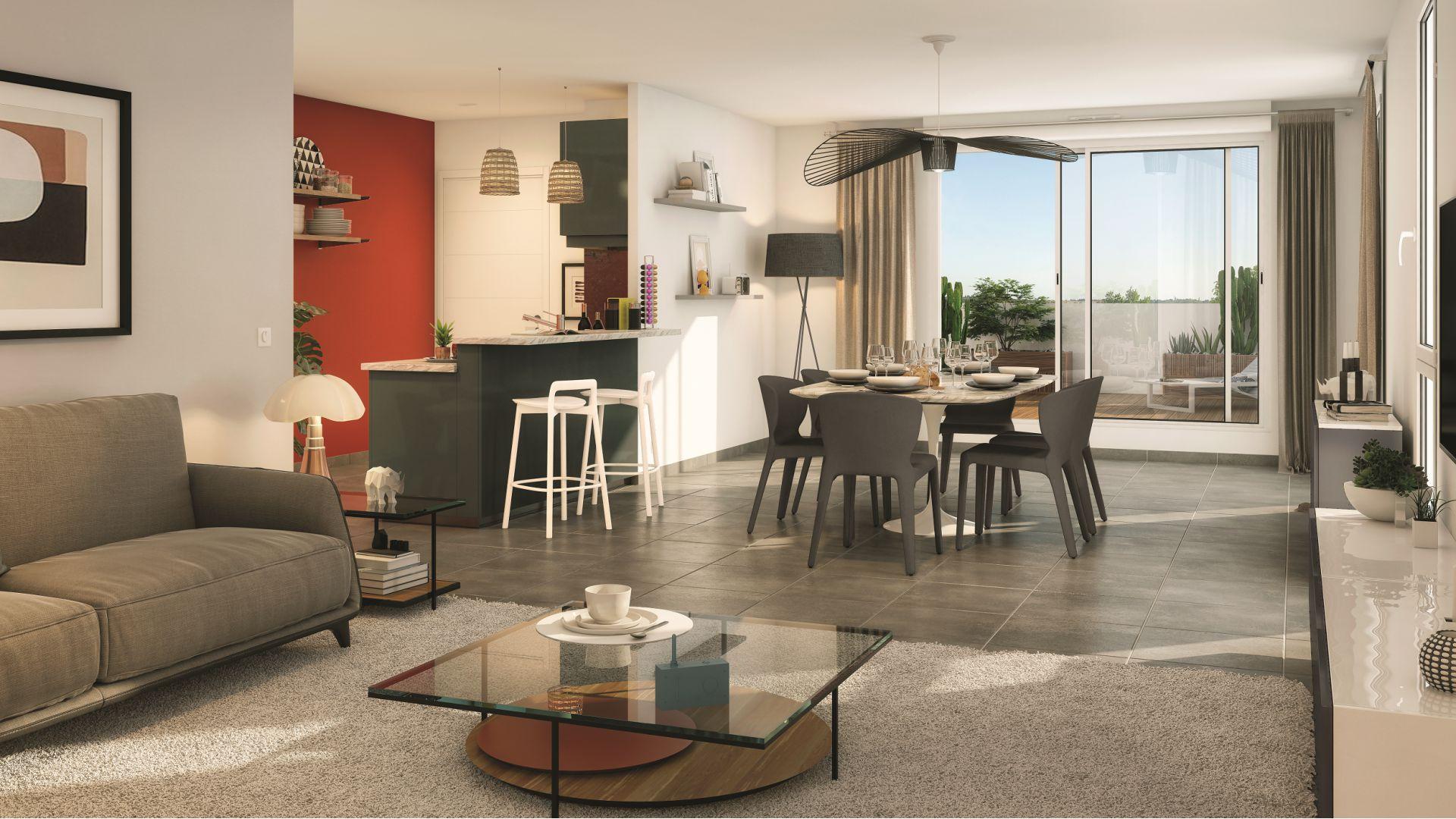 Greencity Immobilier - Résidence Coeur Floréal - 31200 Toulouse Minimes - appartements neufs du T1 au T4