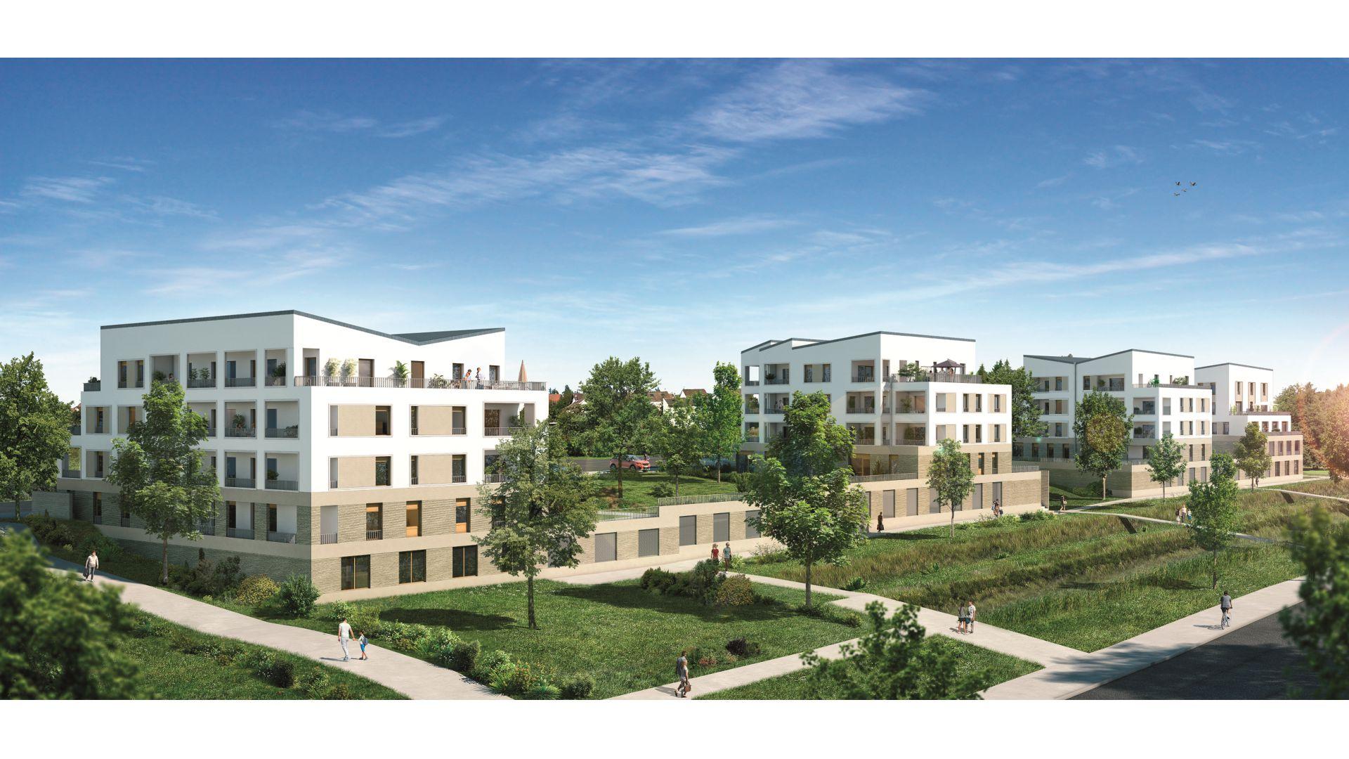 GreenCity Immobilier - Ecquevilly 78920 - Résidence Côté Parc - appartements neufs du T1 au T4