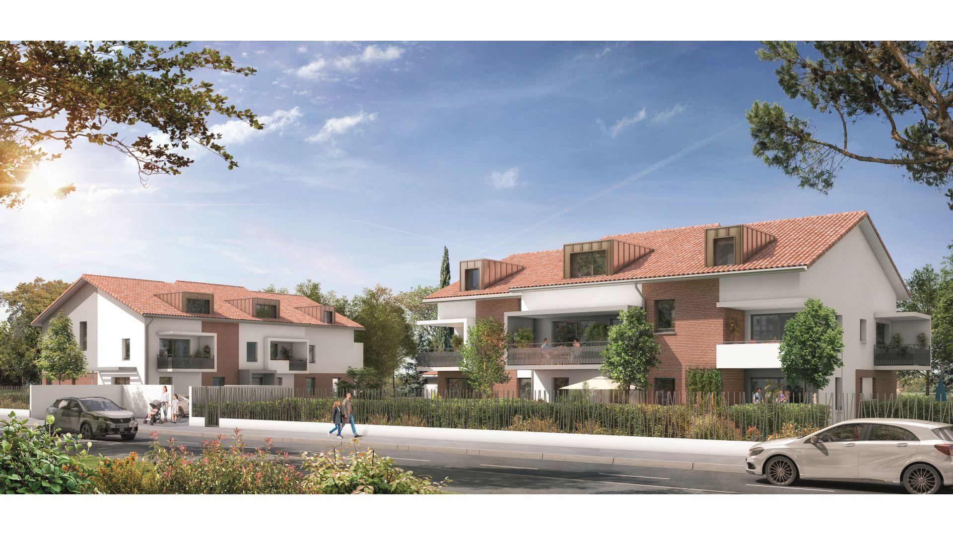GreenCity immobilier - Résidence Cours Adrienne - 31100 Toulouse Saint-Simon - Appartements neufs du T2 au T3 duplex