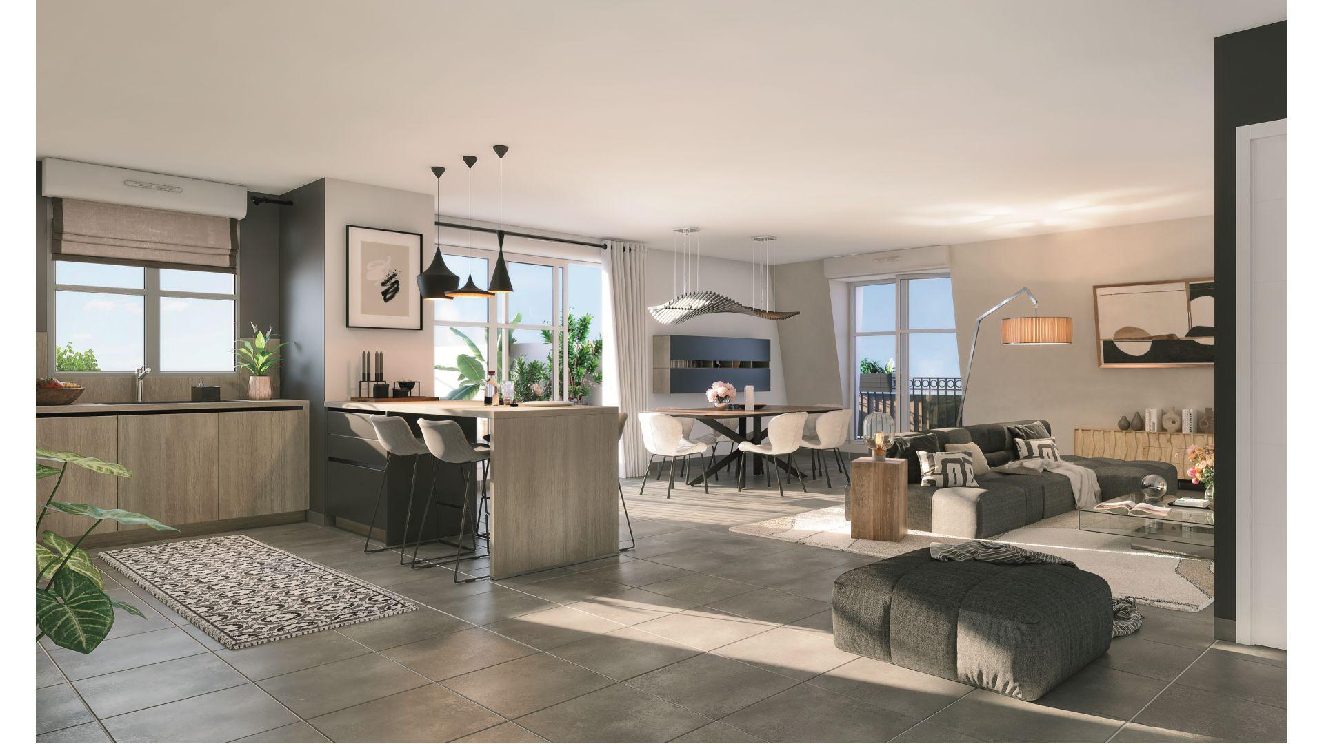 Greencity Immobilier - Cours Boileau - achat appartements neufs du T1 au T5 - Aulnay-sous-Bois - 93600   - vue intérieure