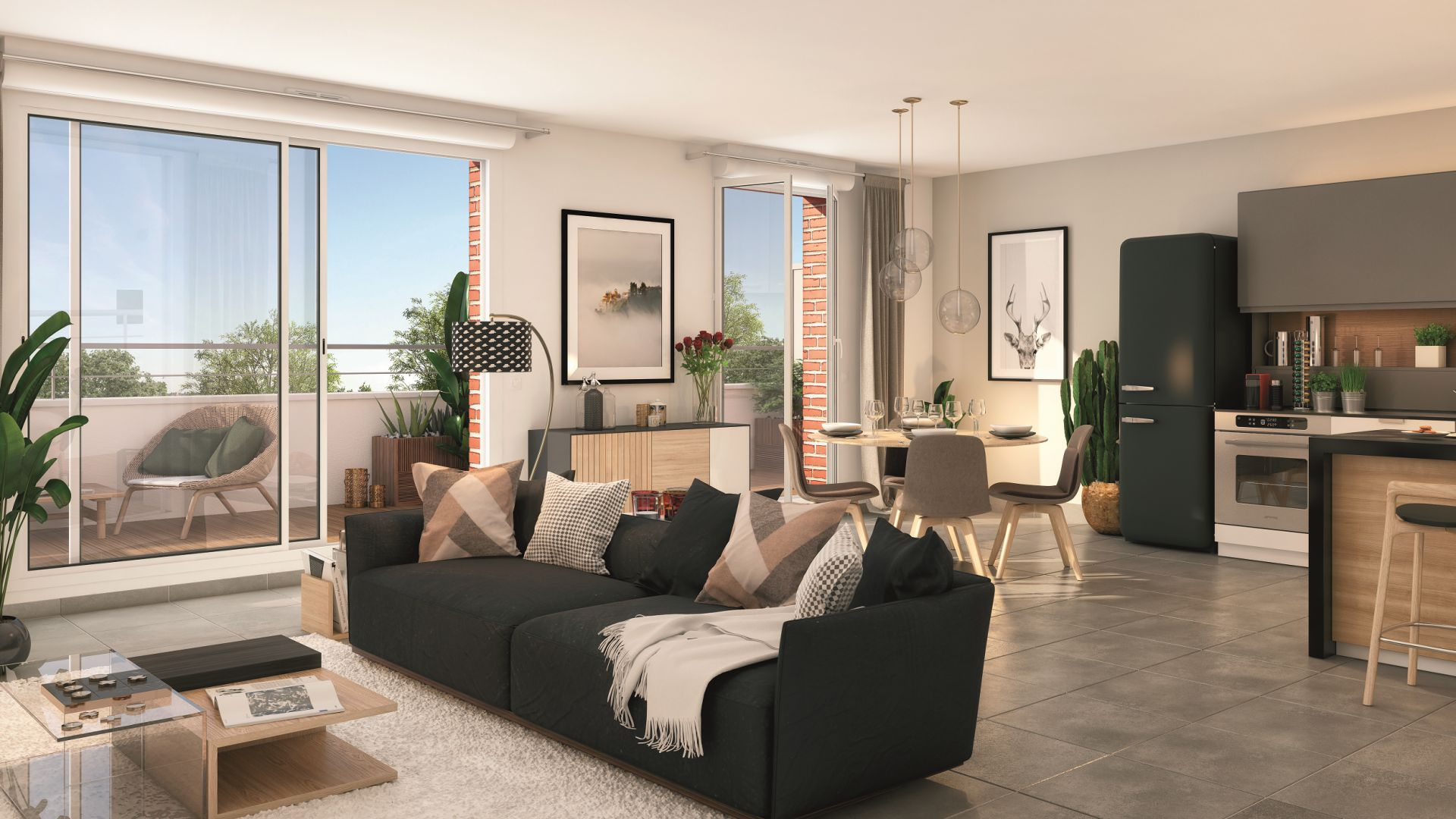 Greencity Immobilier - Résidence Cours Briand - 93190 Livry-Gargan - appartements neufs du T1 au T4Duplex - vue intérieure
