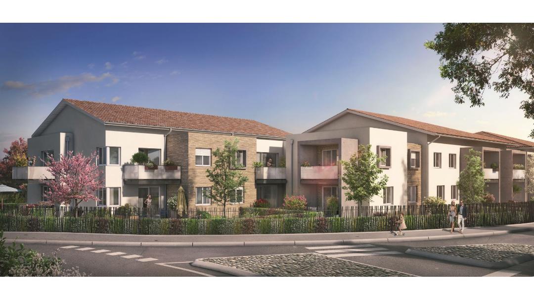 GreenCity immobilier - Frouzins - Résidence Cours du Lac - 31270 - appartements neufs du T1bis au T3