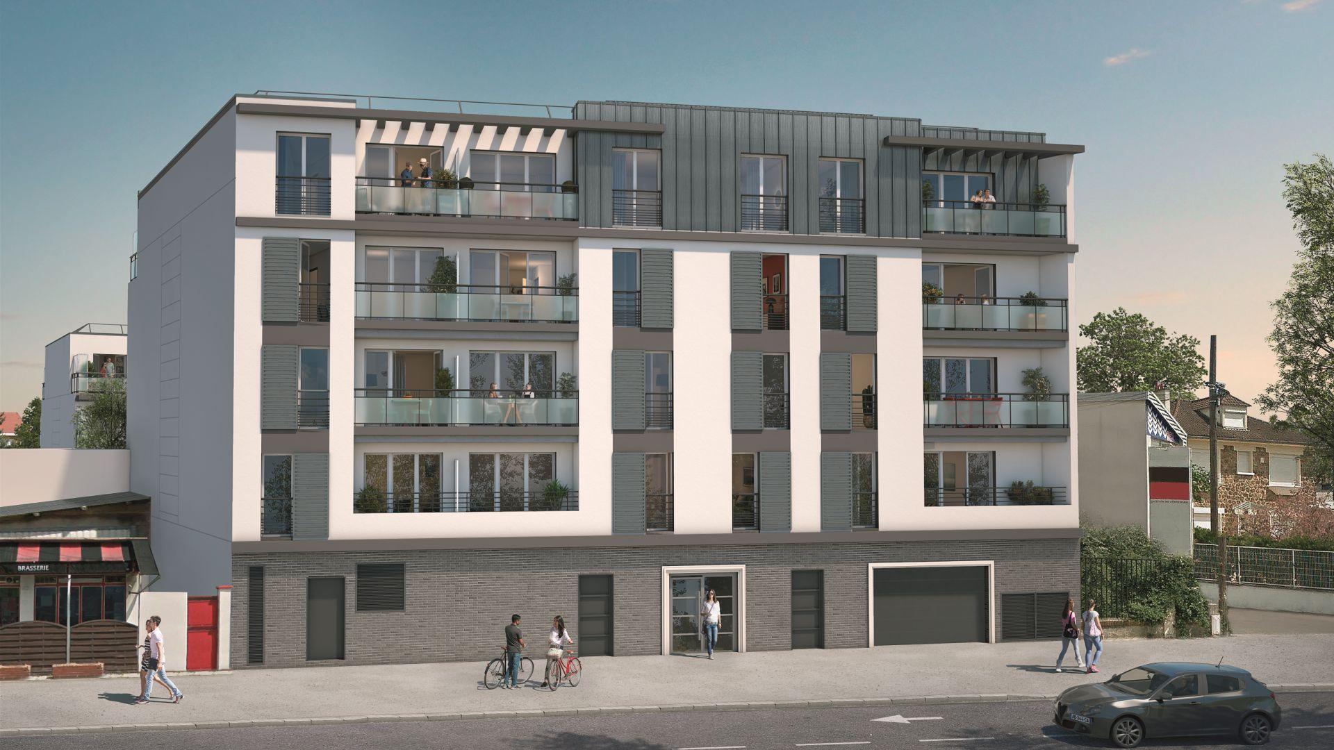 GreenCity immobilier - Résidence Cours Libération - Chennevières-sur-Marne -94430 - appartements neufs du T1Bis au T3