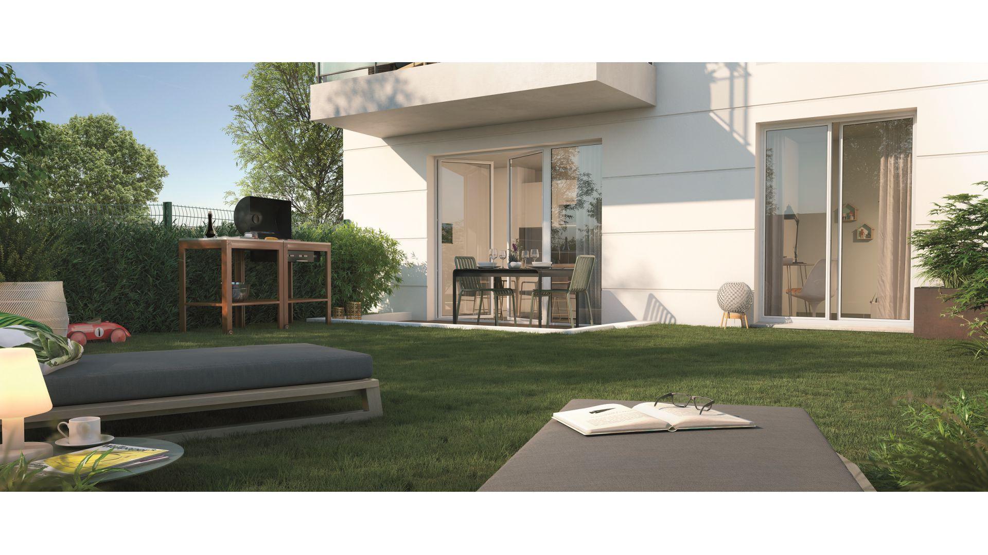 GreenCity immobilier - Résidence Cours Libération - Chennevières-sur-Marne -94430 - appartements neufs du T1Bis au T3 - vue terrasse