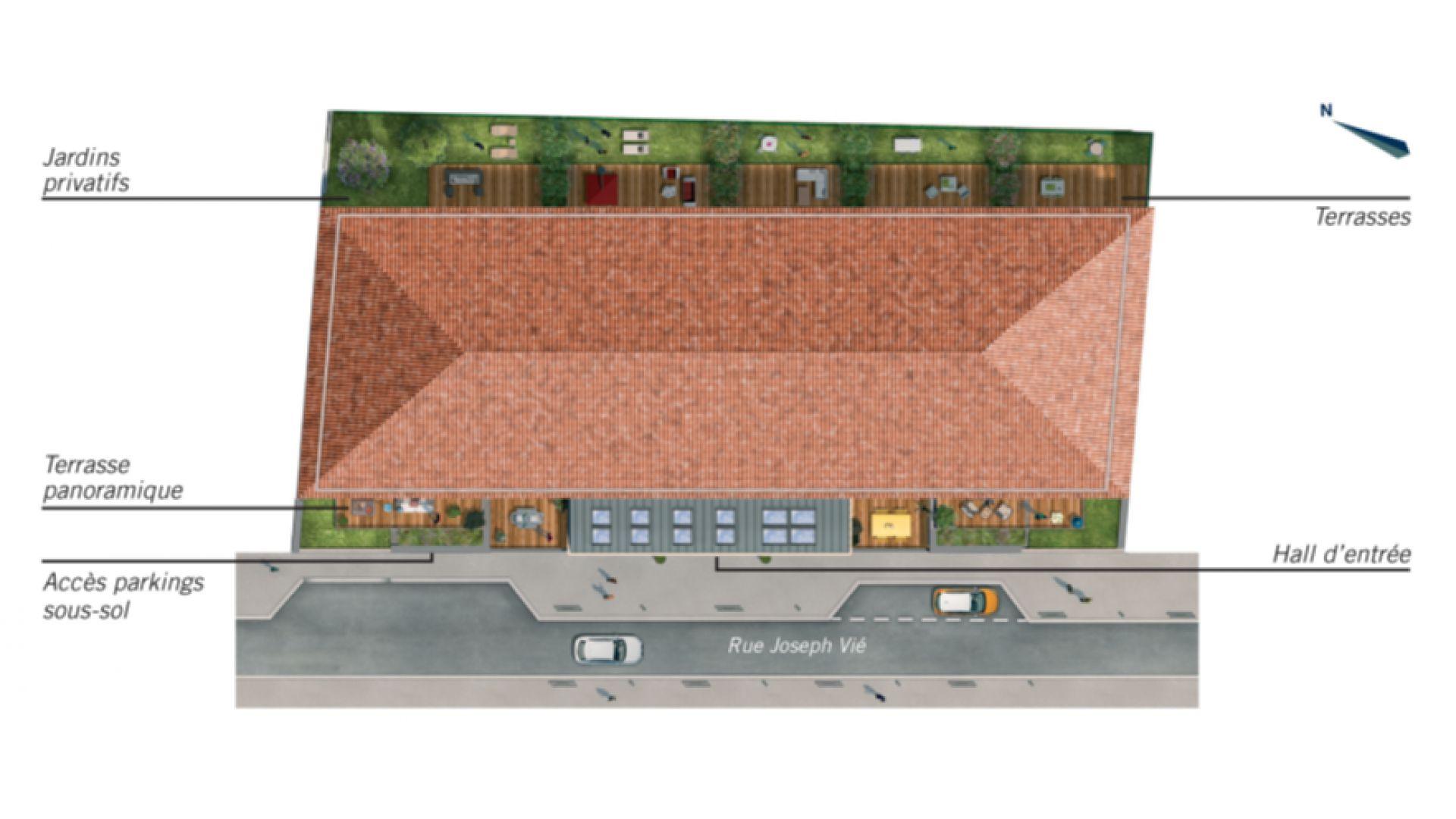 GrennCity Immobilier - Cours Saint-Cyp - Toulouse Saint-Cyprien -plan de masse