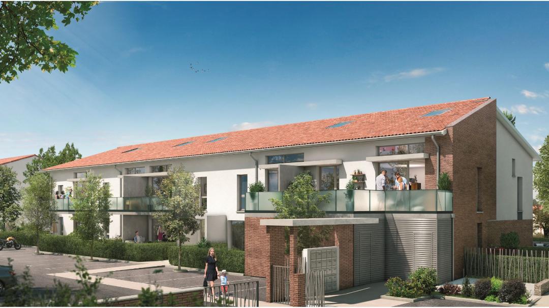 GreenCity immobilier - Aucamville - 31 - Residence Demeure des Chenes - appartements du T1bis au T4