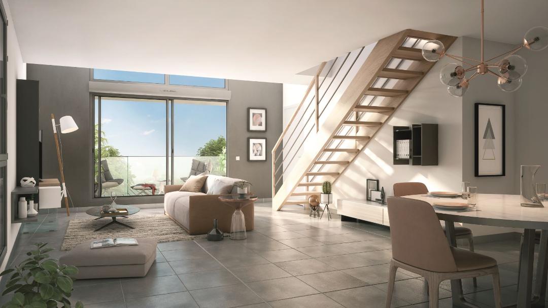 GreenCity immobilier - Aucamville - 31 - Residence Demeure des Chenes - appartements du T1bis au T4 - vue intérieure