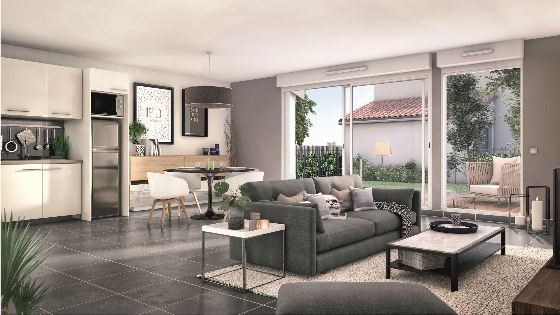 Greencity Immobilier Castelginest - Domaine Castelia - Villa T3 intérieur
