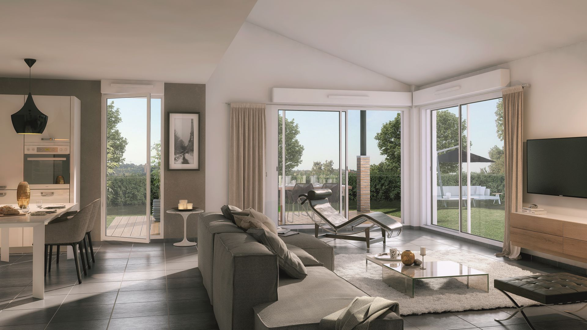 Greencity Immobilier Castelginest - Domaine Castelia - Villa T4 intérieur