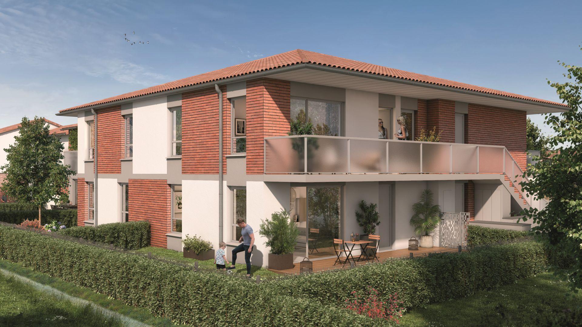 Greencity Immobilier - Domaine du Haumont - achat appartements et villas du T2 bis au T5 - Pins-Justaret 31860