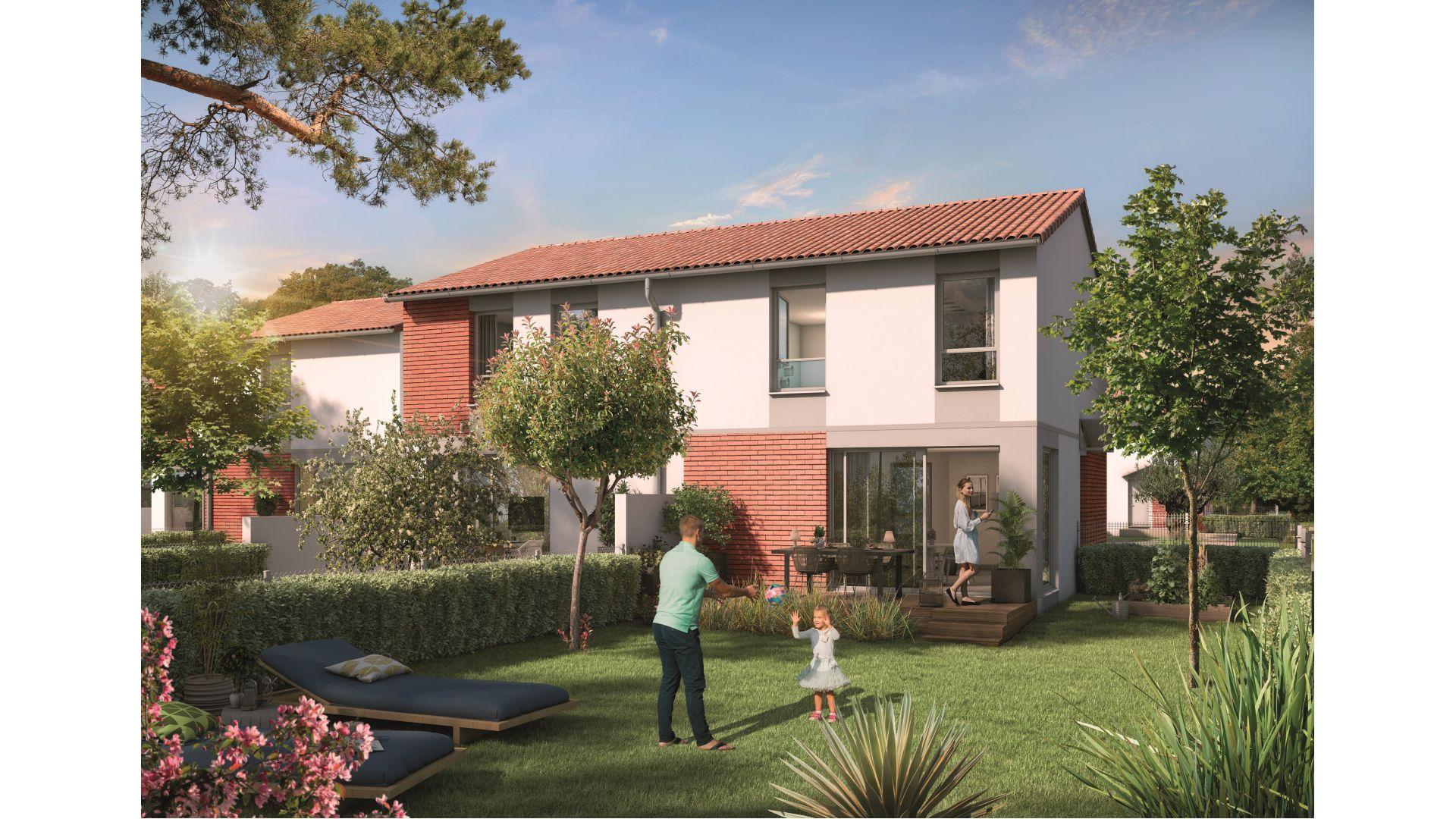 Greencity Immobilier - Domaine du Haumont - achat appartements et villas du T2 bis au T5 - Pins-Justaret 31860 - villa T4