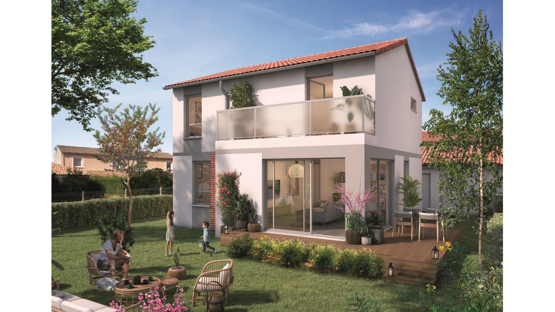 Greencity Immobilier - Domaine du Haumont - achat appartements et villas du T2 bis au T5 - Pins-Justaret 31860 - villa T5