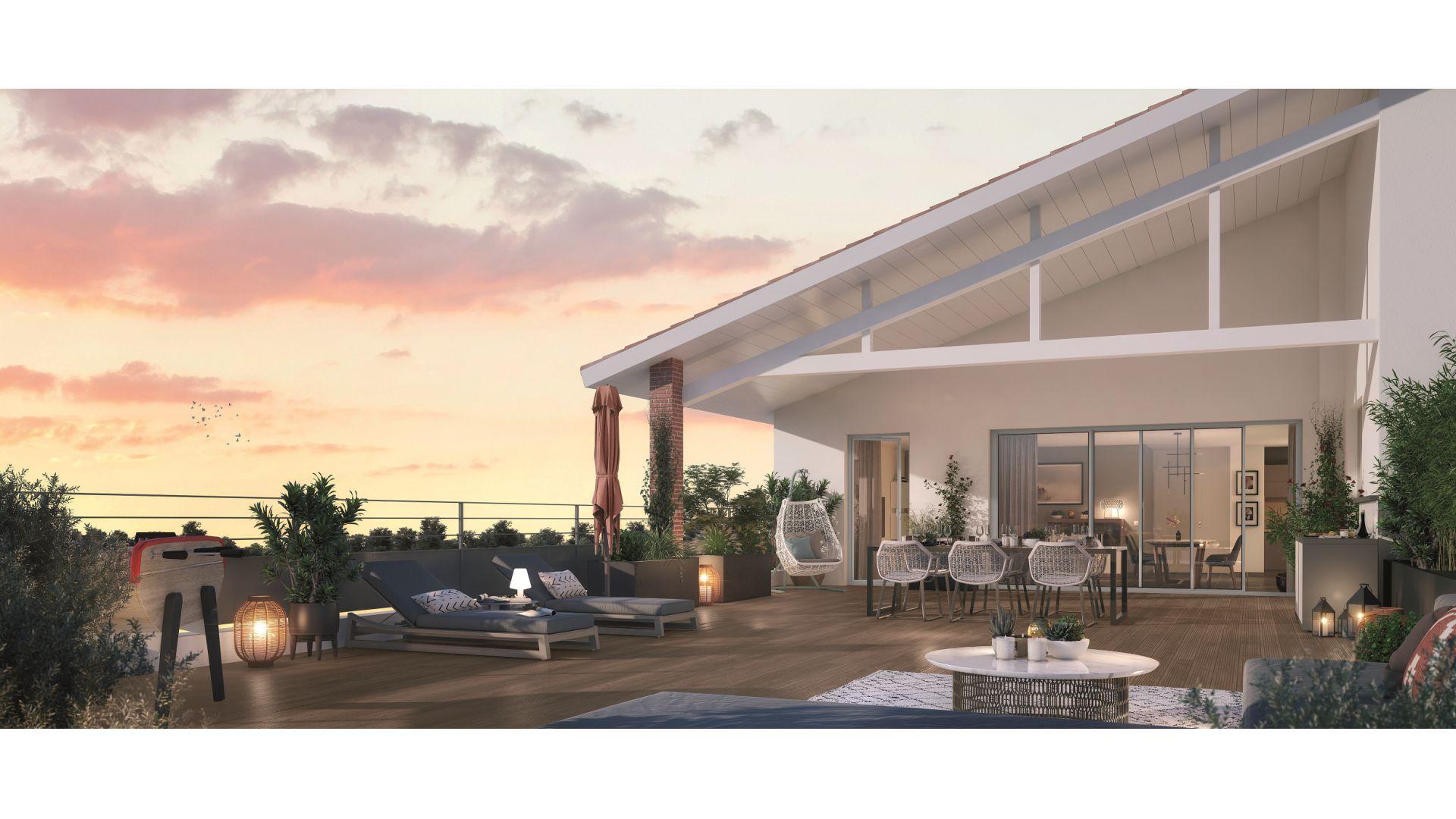 Greencity Immobilier - Domaine Marignac - Achat appartements à Montrabé 31850 - vue terrasse