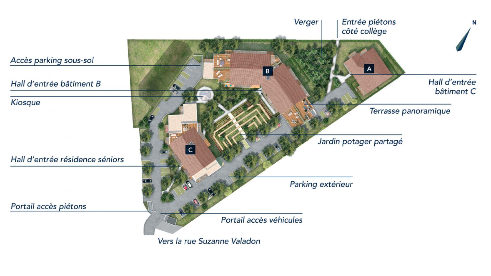 Greencity Immobilier - Domaine Marignac - Achat appartements à Montrabé 31850 - plan de masse