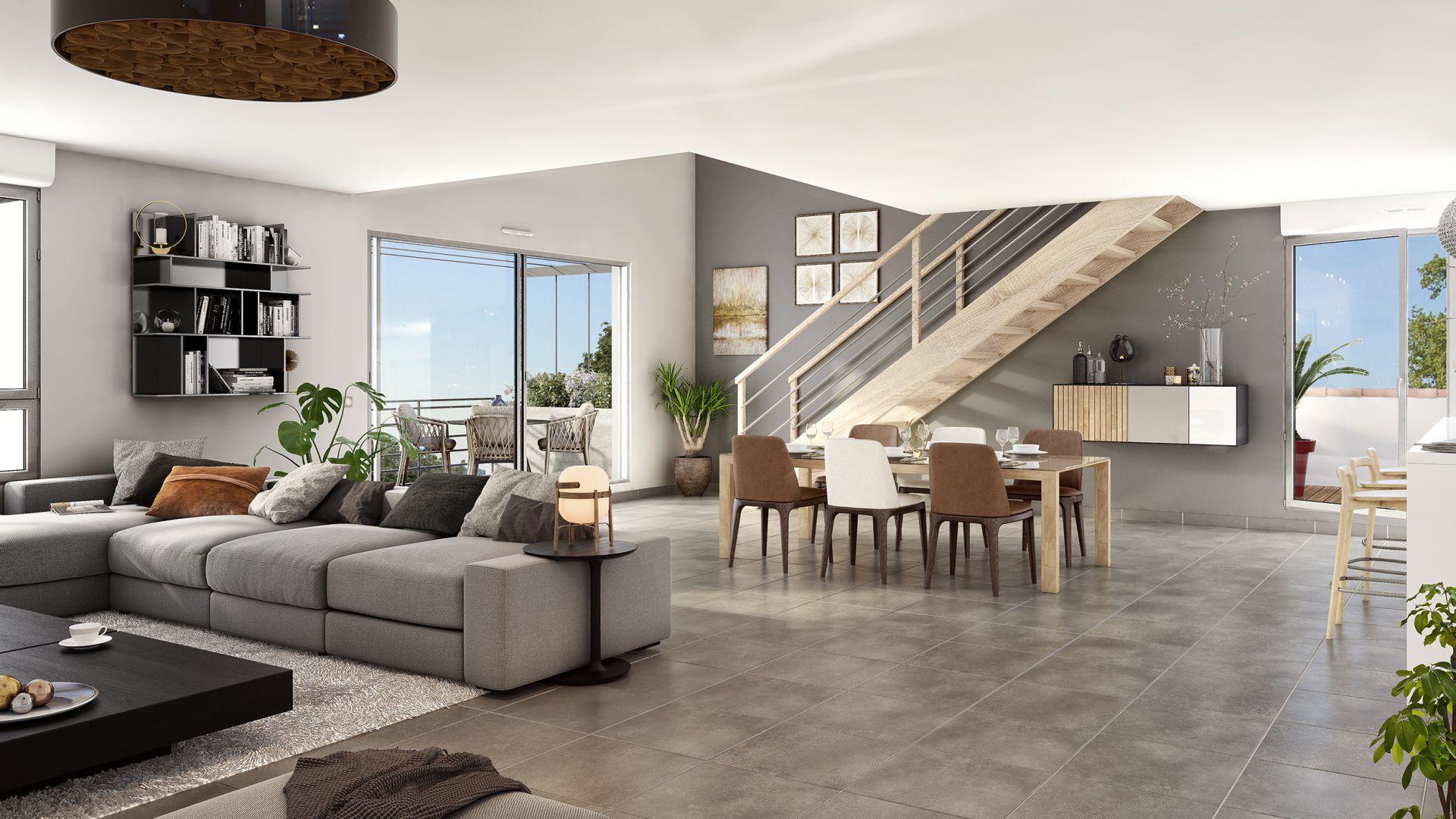 GreenCity immobilier - L Escalis - Appartement du T1 au T5 Duplex - Escalquens 31750 - vue intérieure