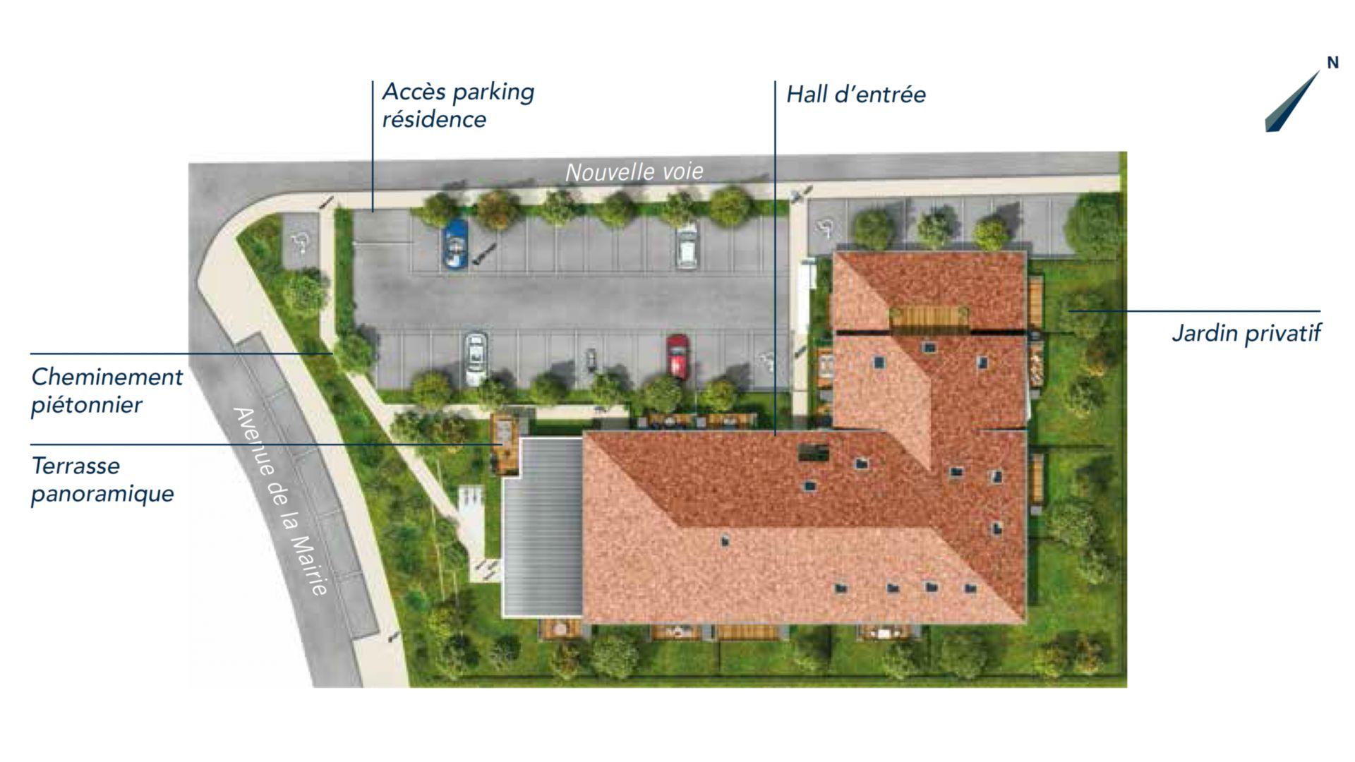 GreenCity immobilier - L Escalis - Appartement du T1 au T5 Duplex - Escalquens 31750 - plan de masse