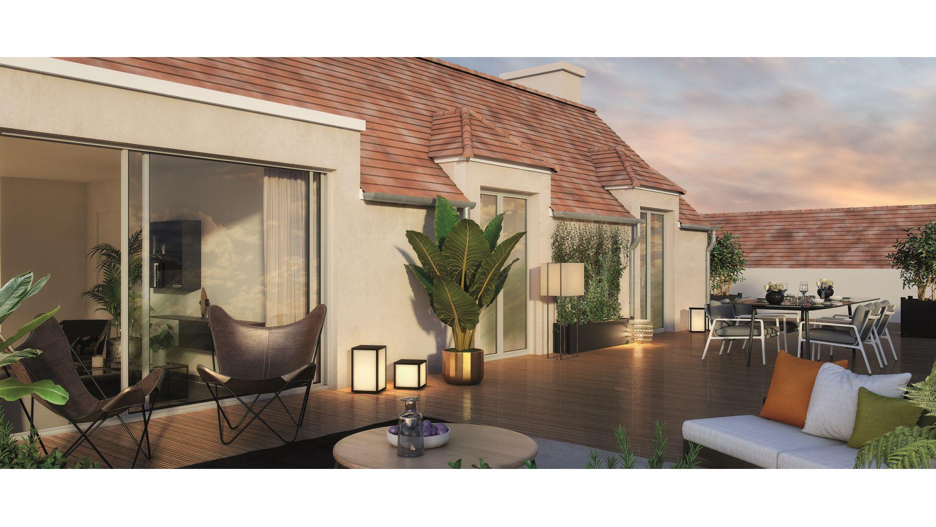 GreenCity Immobilier - Esprit Lodge - Périgny sur yerres - 94520 vue terrasse