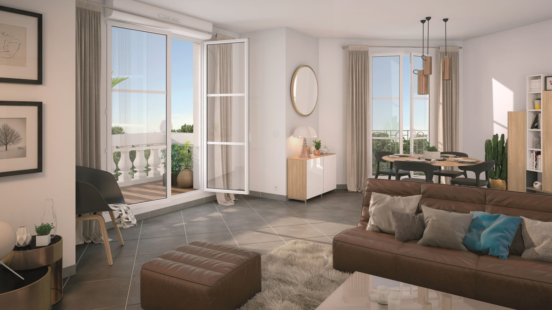 GreenCity immobilier - achat appartement neuf - Villiers Sur Marne - 94350 - Résidence Grand Angle - vue intérieure