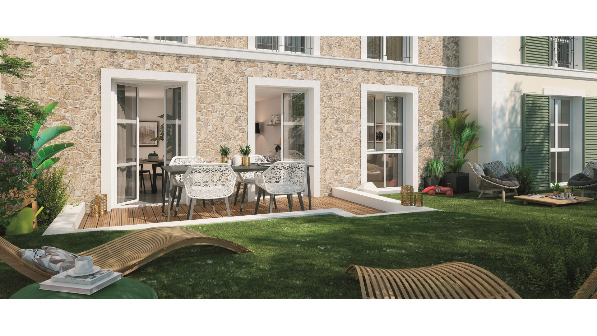 GreenCity immobilier - achat appartement neuf - Villiers Sur Marne - 94350 - Résidence Grand Angle - vue terrasse