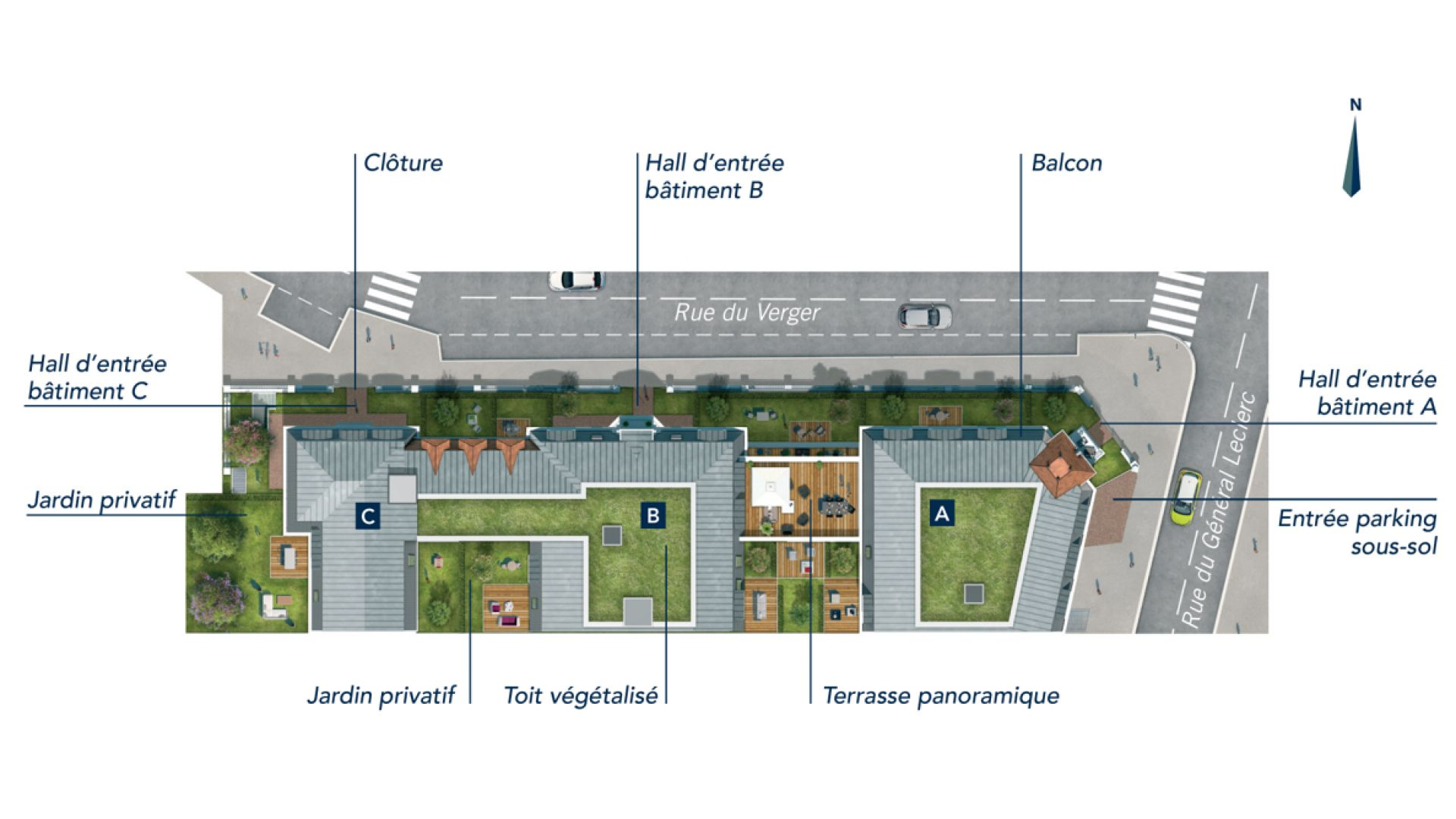 GreenCity immobilier - achat appartement neuf - Villiers Sur Marne - 94350 - Résidence Grand Angle - plan de masse