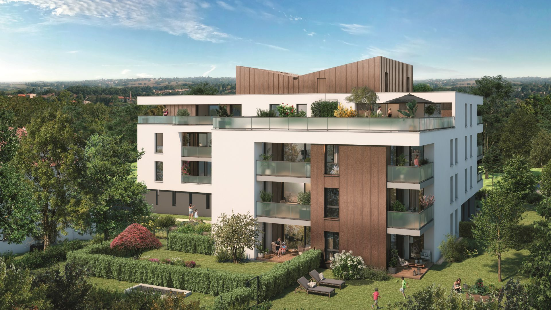 Greencity Immobilier - Grand Horizon - achat appartements du T2 au T4 duplex - Toulouse - Pech David 31400