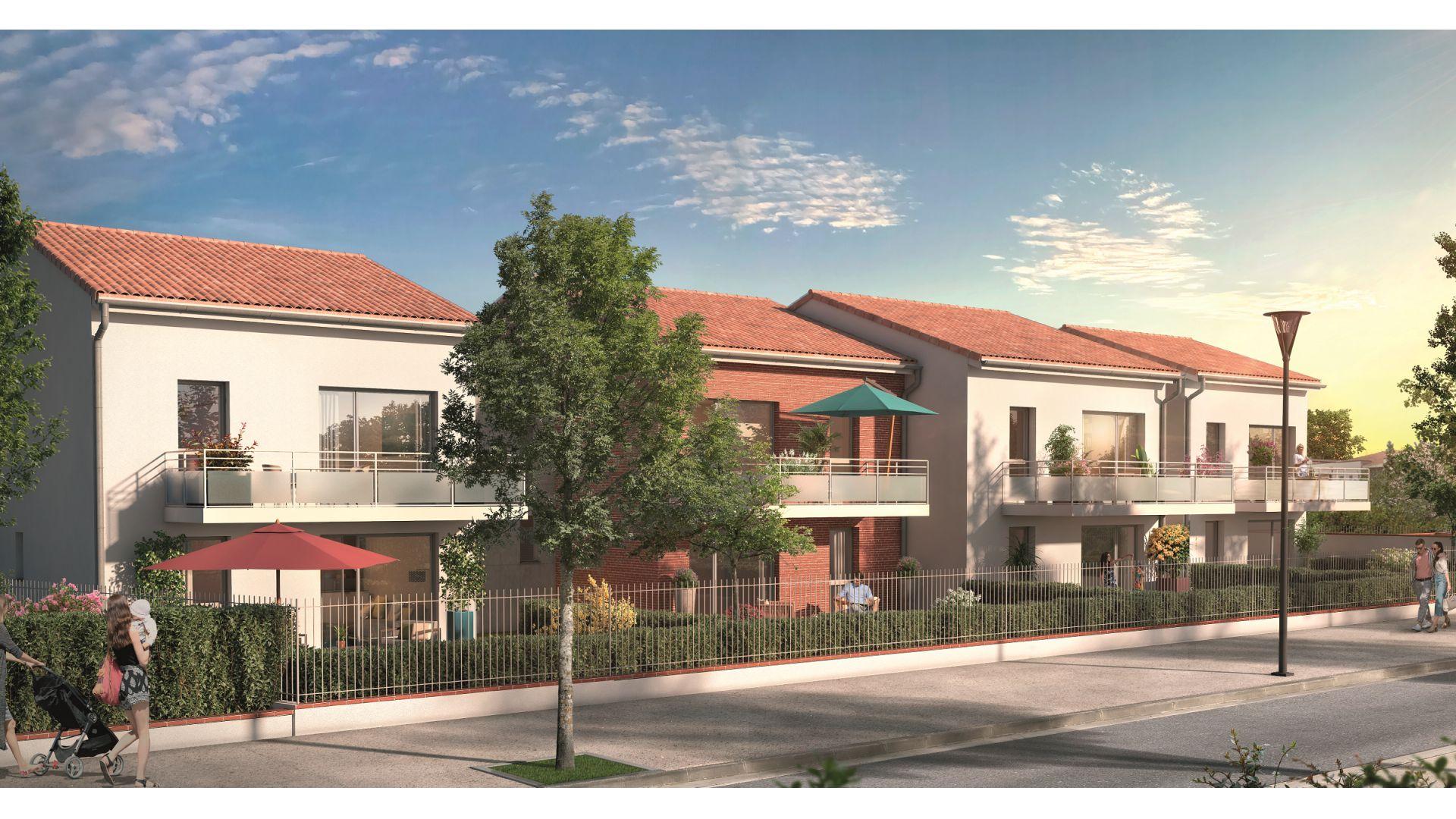 Greencity Immobilier - Hameau Dhuoda - achat appartements neufs du T2 au T3 - 31100 Toulouse Saint-Simon