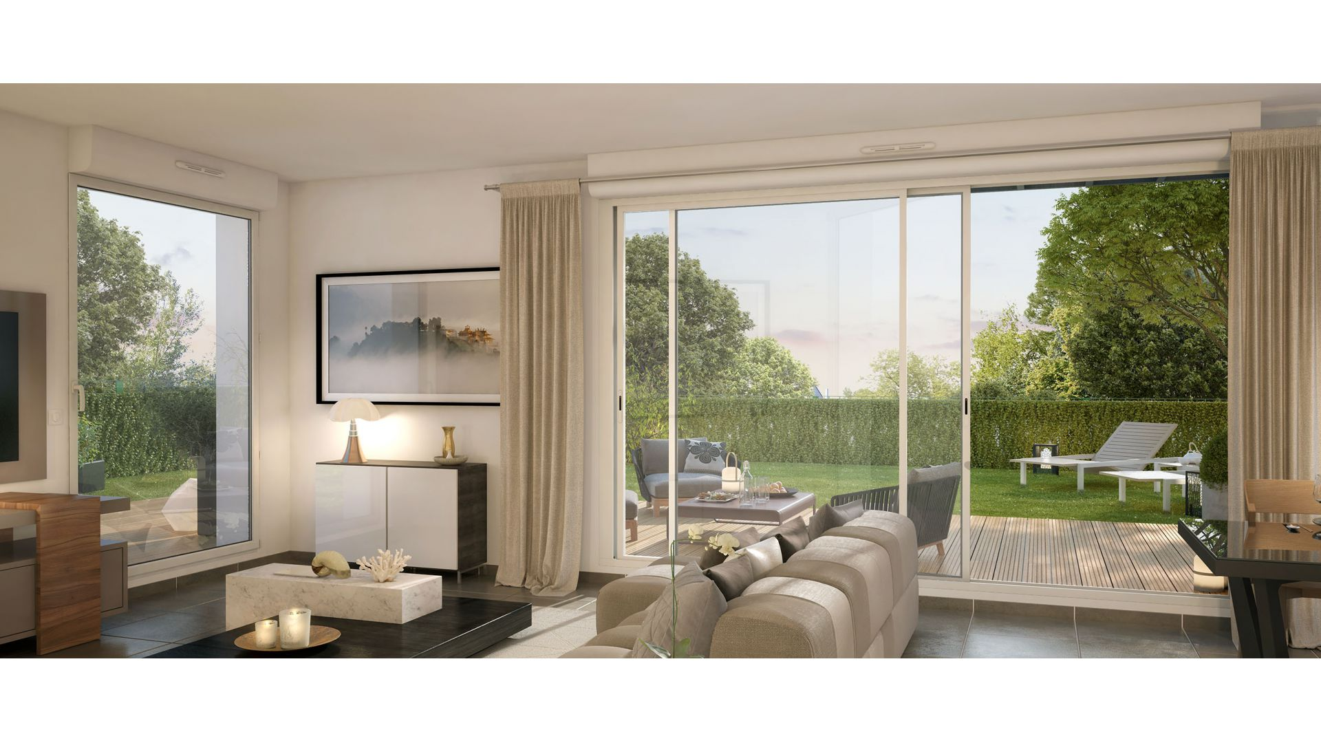 GreenCity Immobilier-La Bastide D'Adèle-Tournefeuille-31170-Vue Terrasse - Villa T5