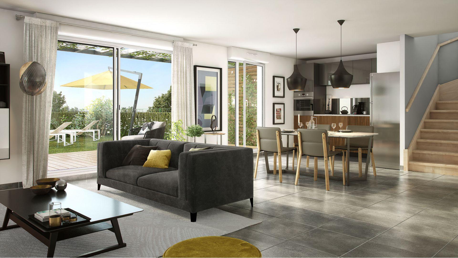 GreenCity Immobilier-La Bastide D'Adèle-Tournefeuille-31170-Vue Intérieur - Villa T4