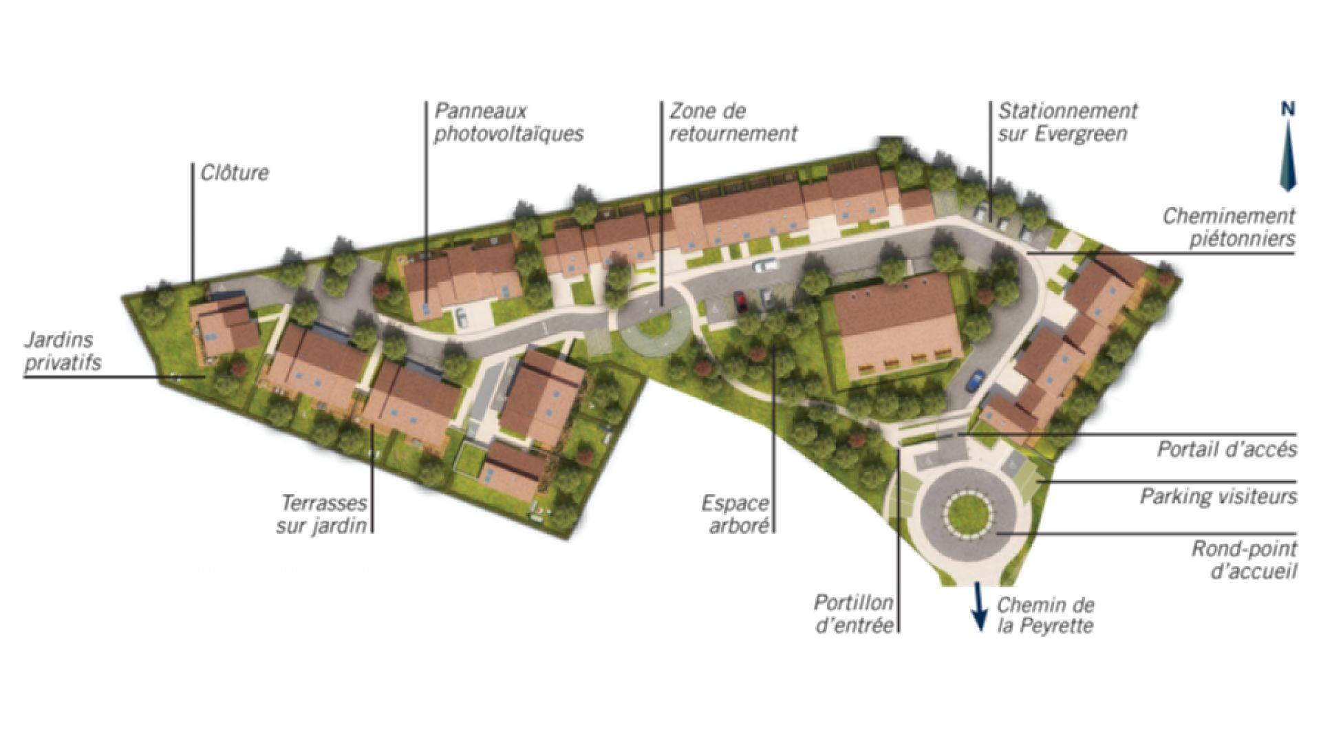 GreenCity Immobilier-La Bastide D'Adèle-Tournefeuille-31170-plan de masse