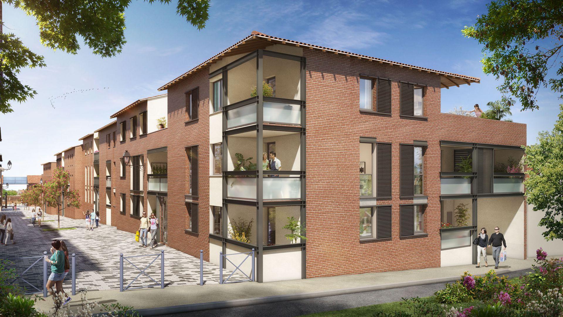 GreenCity immobilier - L-A-CAPPELLA -Castanet Tolosan centre ville - 31320 - vue extérieure