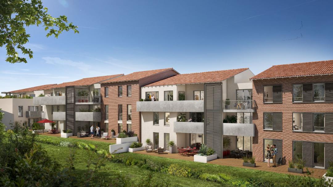 GreenCity immobilier - L-A-CAPPELLA -Castanet Tolosan centre ville - 31320 - vue jardin