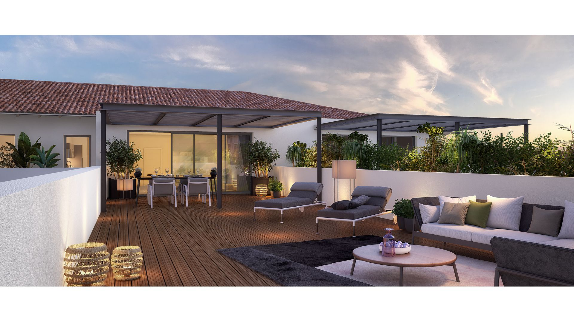 GreenCity immobilier - L-A-CAPPELLA -Castanet Tolosan centre ville - 31320 - vue terrasse