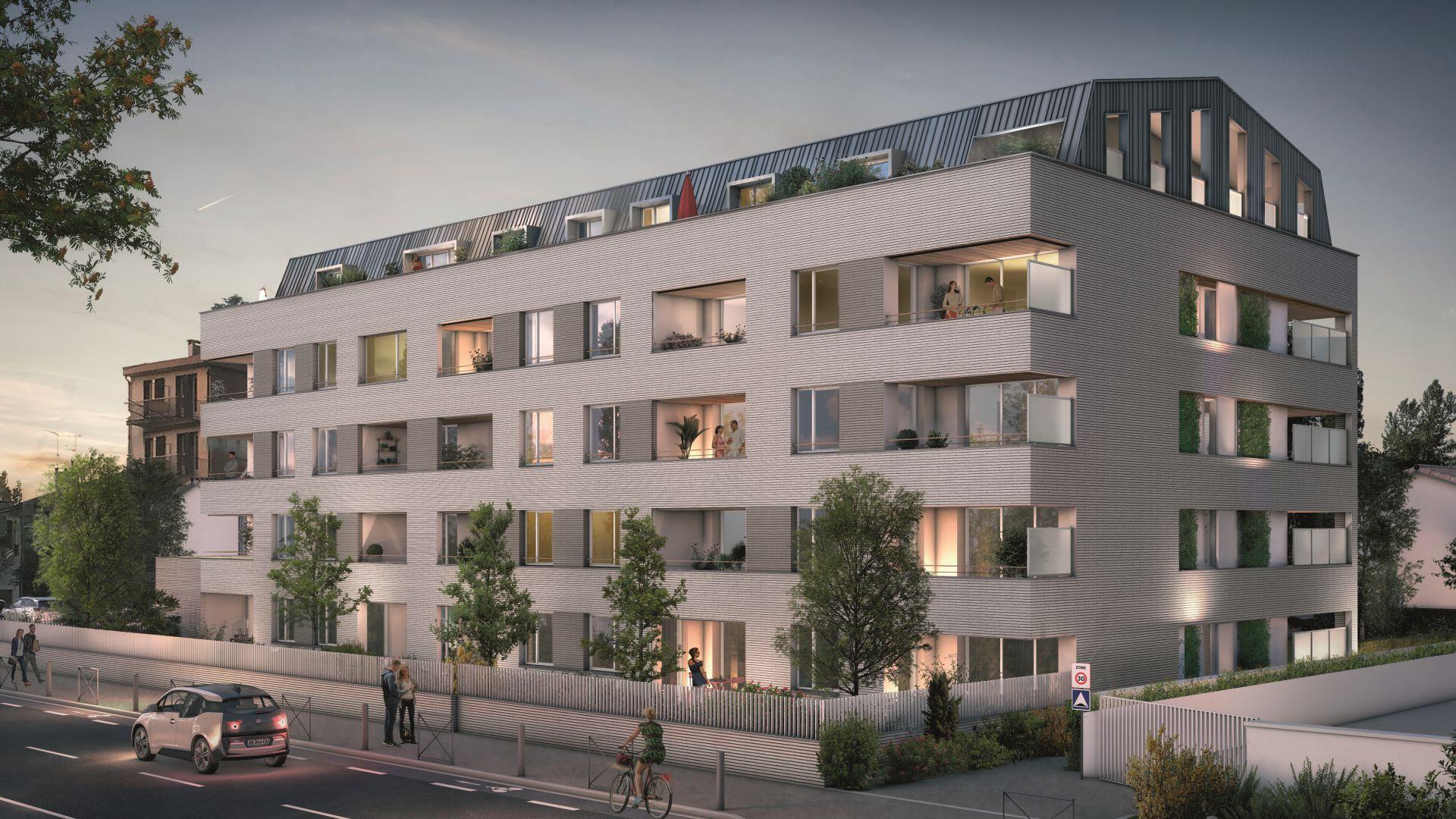 GreenCity immobilier - Toulouse - route de Narbonne - 31400 - Résidence L'Absolu - appartements neufs du T2 au T4