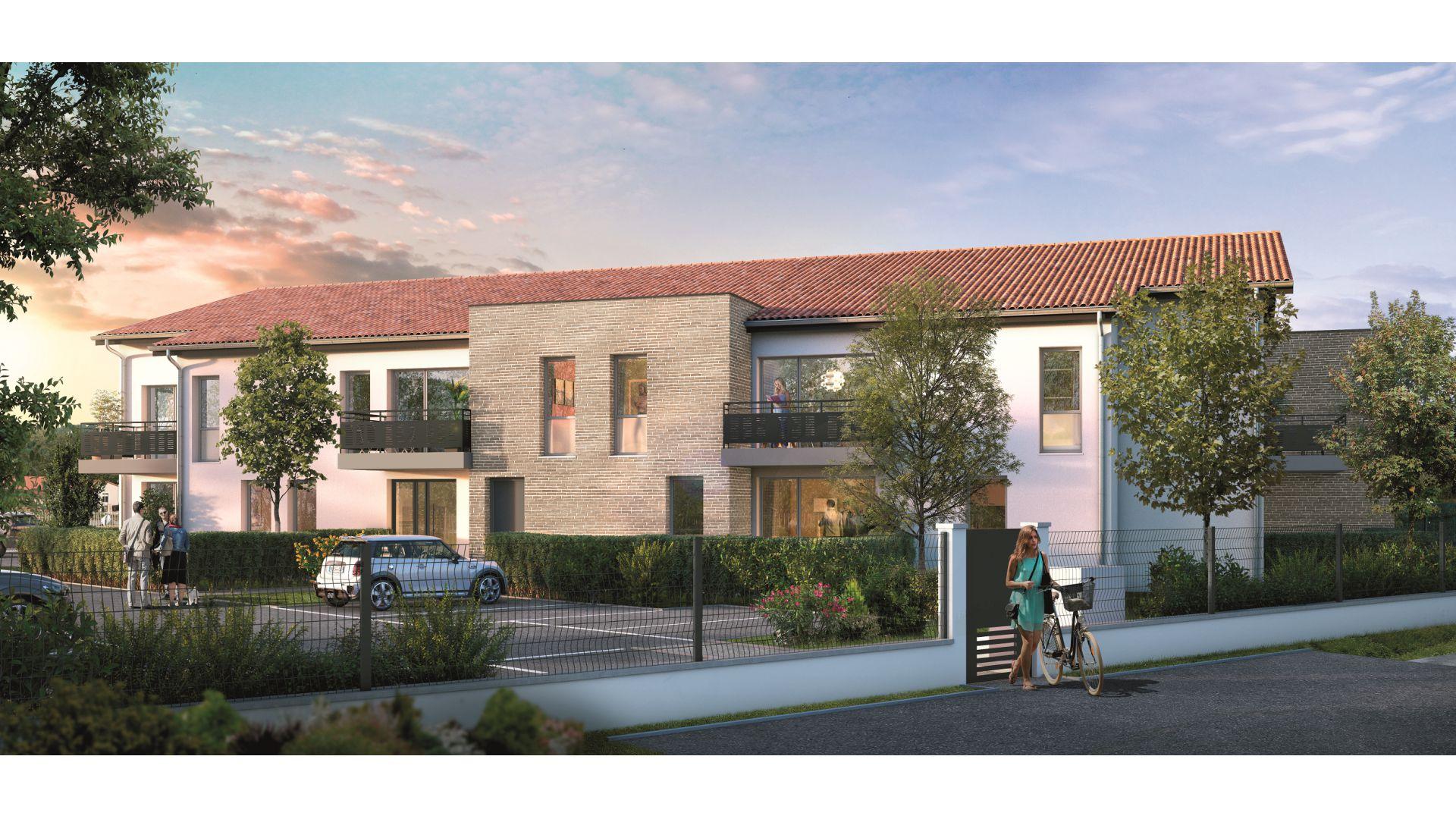 GreenCity immobilier - Frouzins - Résidence l'Aiguillon - 31270 - appartements neufs du T2 au T3