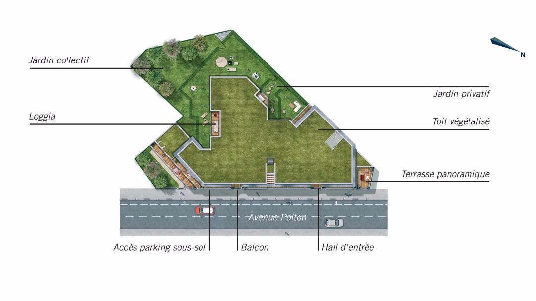 Greencity Immobilier - L'Amarante - Nogent sur marne - 94130 - plan de masse