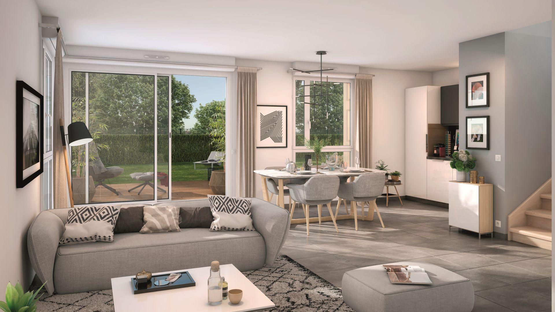 GreenCity immobilier - Aussonne 31840 - Résidence l azalee - achat villa neuve aussonne - T4 - vue intérieure