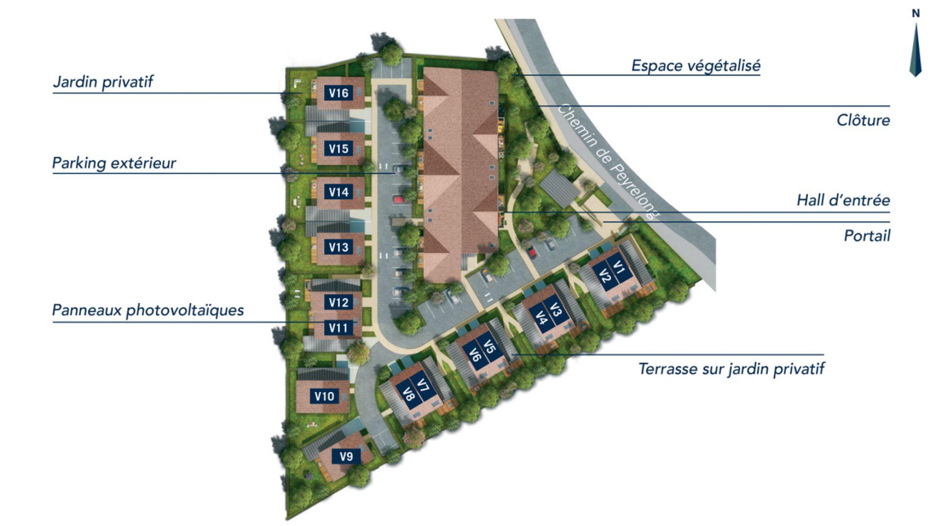 GreenCity immobilier - Aussonne 31840 - Résidence l azalee - achat appartement neuf aussonne - achat villa neuve aussonne 31840