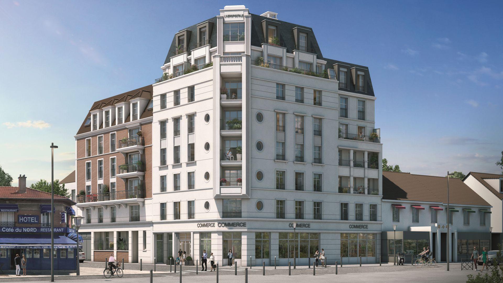 Greencity Immobilier - Résidence Le 122 Aéropostale - 93150 Le Blanc Mesnil - A vendre appartement du T1 bis au T4 Duplex