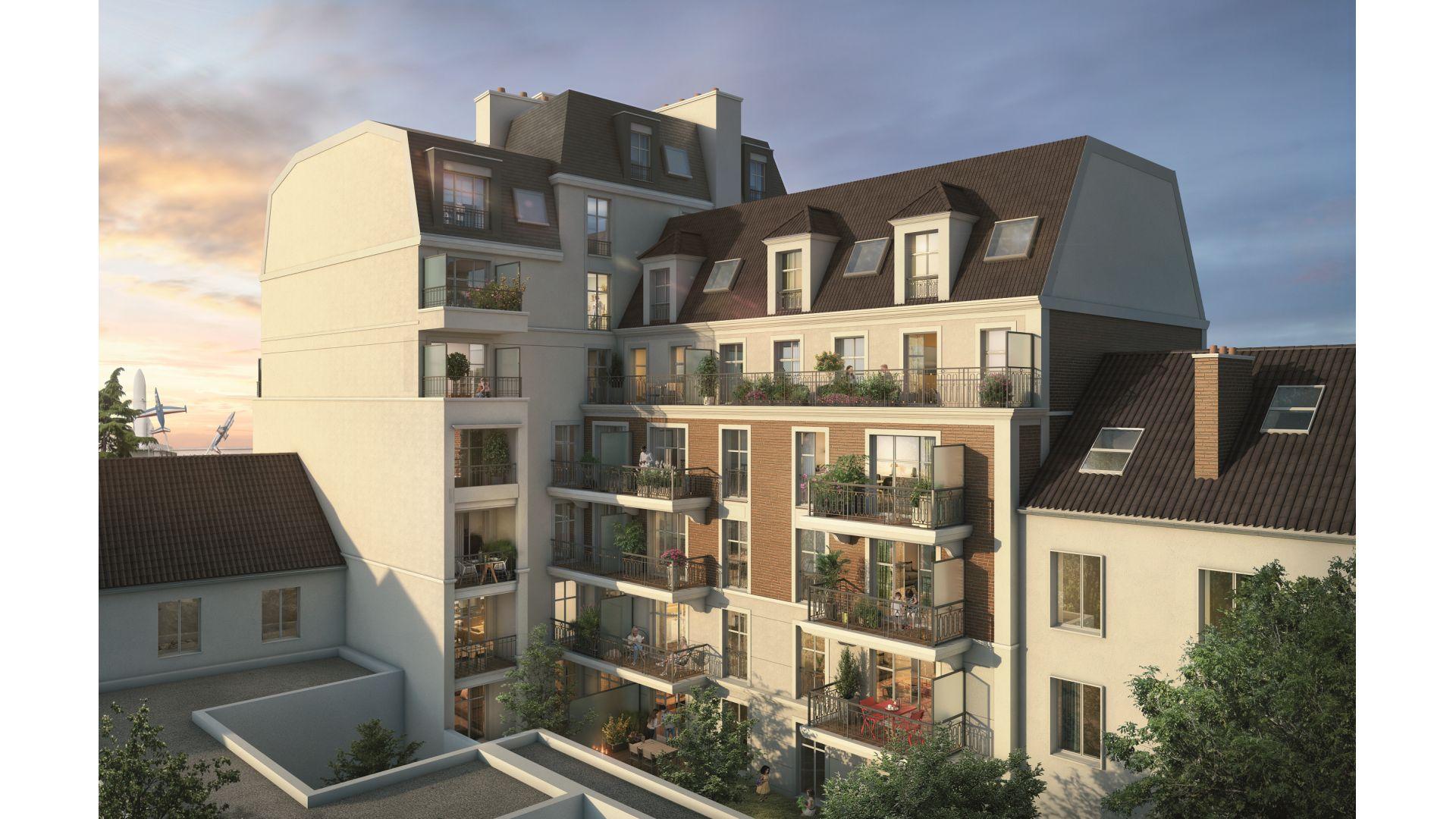 Greencity Immobilier - Résidence Le 122 Aéropostale - 93150 Le Blanc Mesnil - A vendre appartement du T1 bis au T4 Duplex - vue cour